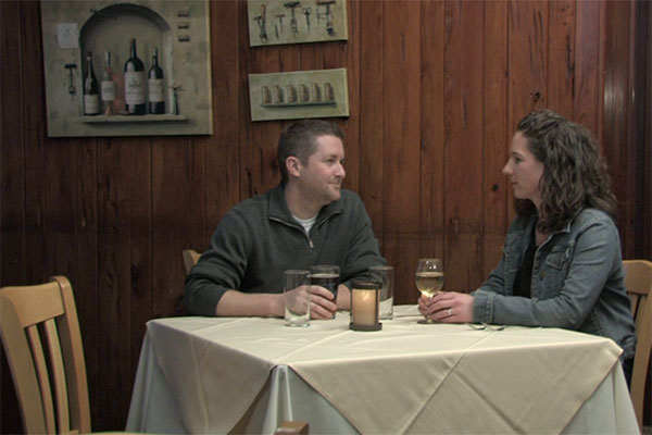 couple on a date at the turf tavern