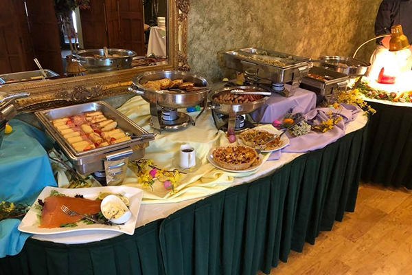 large buffet spread