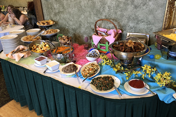 Spring buffet spread