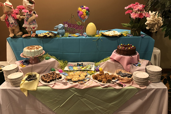 Easter buffet spread