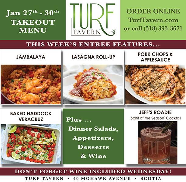online ordering menu for turf tavern
